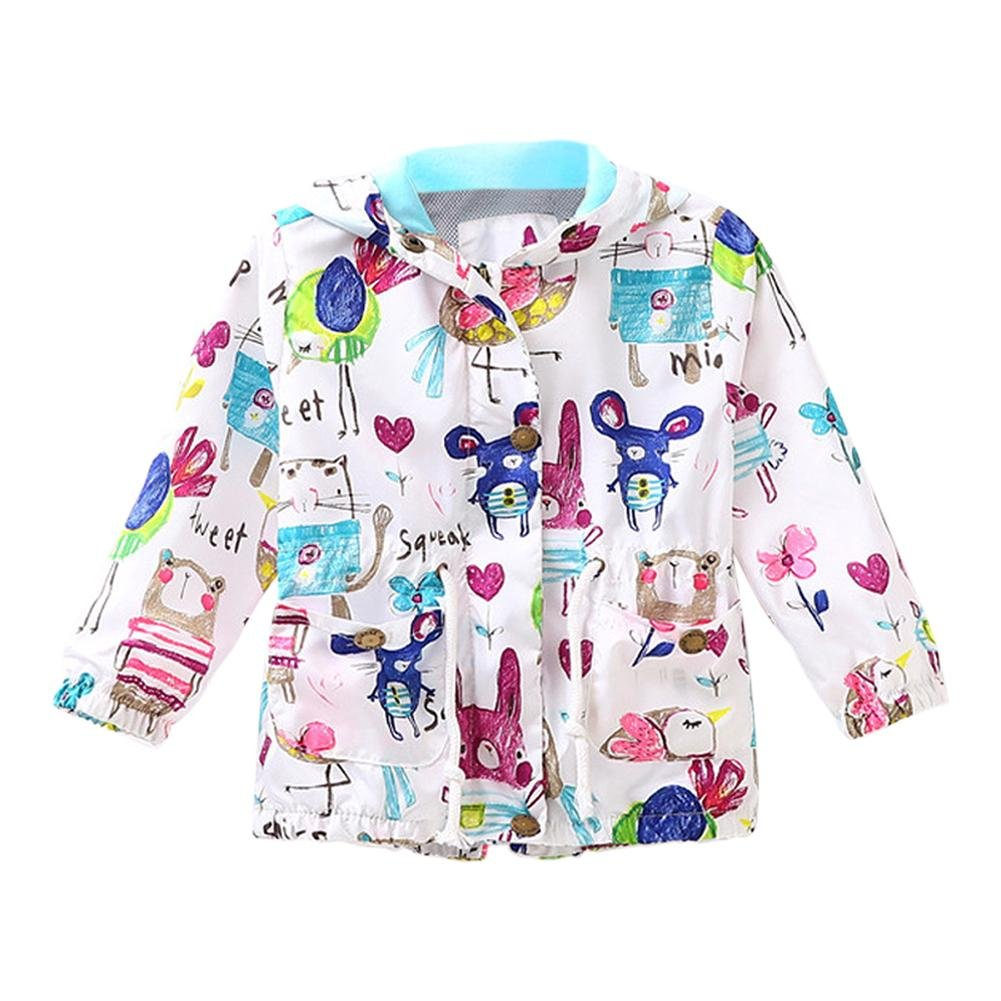 Amazingdeal Kids Girl Jackets Cartoon Animal Zipper Hooded Outerwear Sun Clothes by Amazingdeal