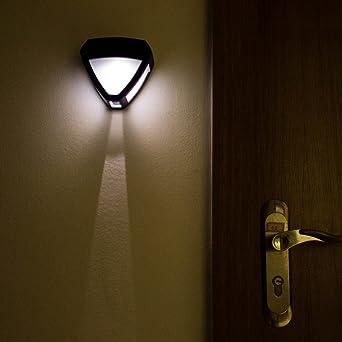 T SUN LED Outdoor Wireless Solar Powered Wall Light IP44 Waterproof For  Garden,Wall