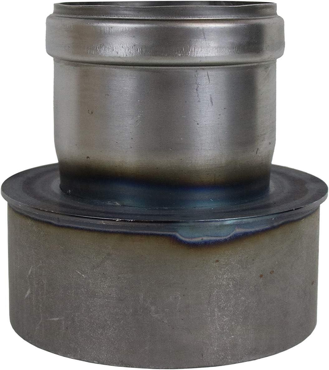 Pellet Tubo estufa de pellets codo para tubo de chimenea Ampliaci/ón de 80/mm de di/ámetro en 120/mm Gris Negro sin lacar