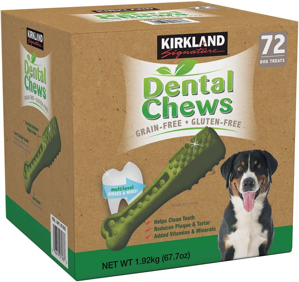 Kirkland Signature Doggy Dental Chews Grain-Free, Gluten-Free – 72 Treats