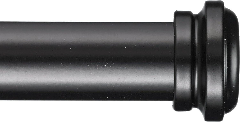 Black Quincey Curtain Rod 1 inch Diameter A/&F Rod D/écor 28-48 inch