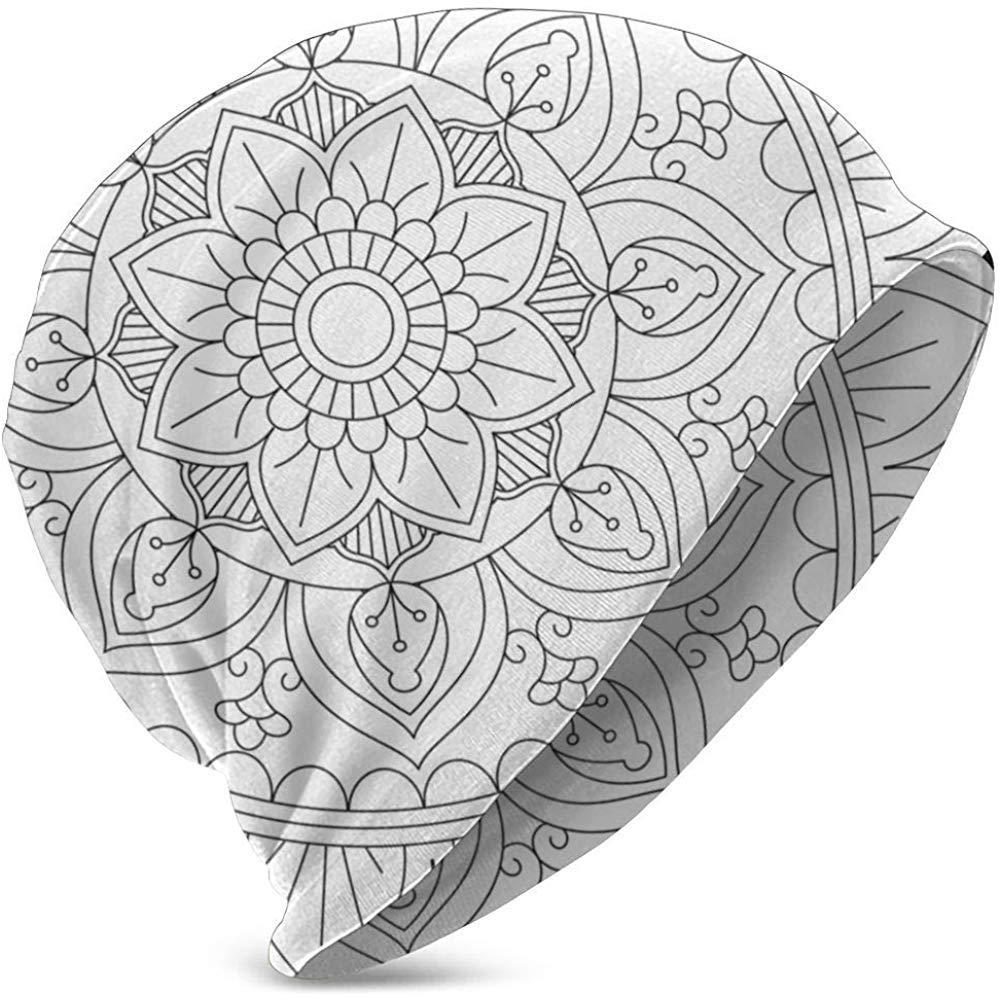 Esquema de Mandala para Colorear Sombreros de Punto cálido ...