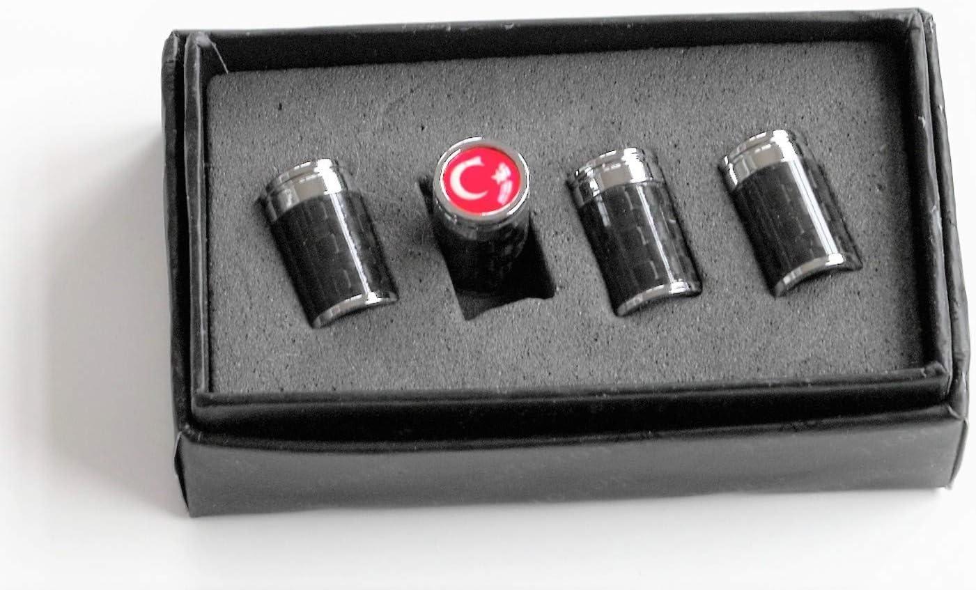 MAX AUTO CARBON T/ürkiye Turkey Metall echt Carbon Ventilkappen Reifenventil Ventil universal T/ürkei