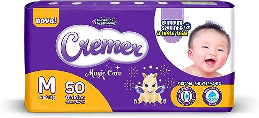 Fralda Cremer Disney, M, Mega, pacote de 50