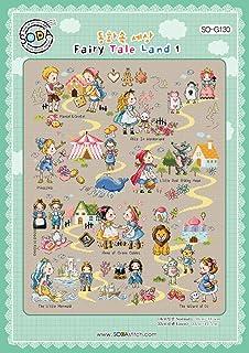 Cross Stitch Pattern Chart SO-3143 Love Marine Girl SODA Cross Stitch Pattern Leaflet Color Printed on Coated Paper Authentic Korean Cross Stitch Design