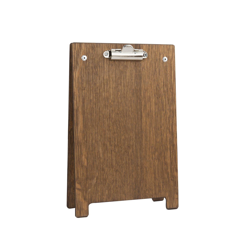 Supporto portablocco, formato A5, con finitura in legno di quercia scuro Porter and Woodman WC925D