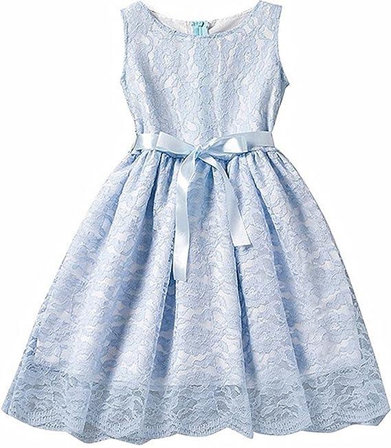 Morbuy Ropa de niñas, Encaje Hueco Vestidos de Fiesta de Princesa Super Lindo Diseñador de Moda Vestidos de Niñas para el partido Boda Pompa (140, ...