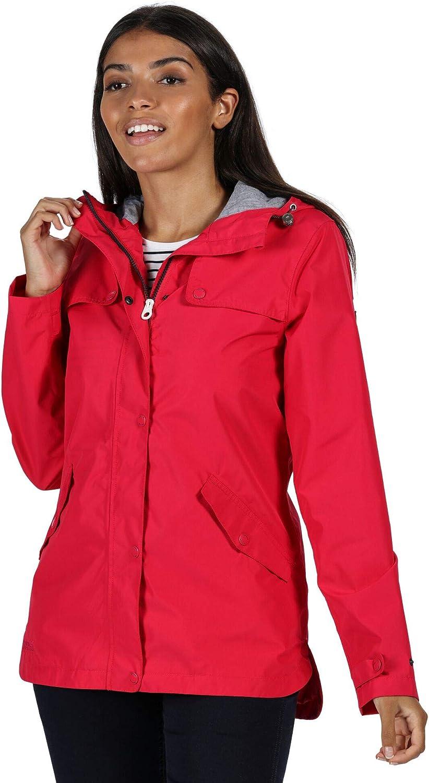 Regatta Womens Bertille Waterproof Jacket Full Zip Up Hooded Coat