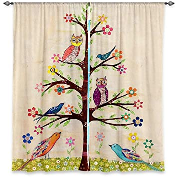 Amazon.com: Window Curtains Unlined from DiaNoche Designs Unique ...