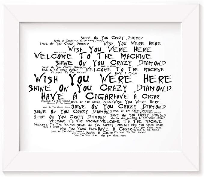 Pink Floyd Poster Print Wish Your Were Here Testo regalo