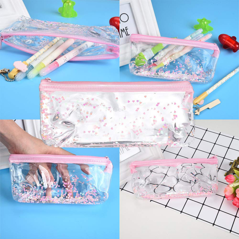 Amazon.com : Gotian Creative Pencil Case Pouch Transparent ...