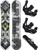 Airtracks Snowboard Set / CUBO Wide + Snowboard Bindung Savage + Snowboard Bag / 159 161 165 168 171 cm