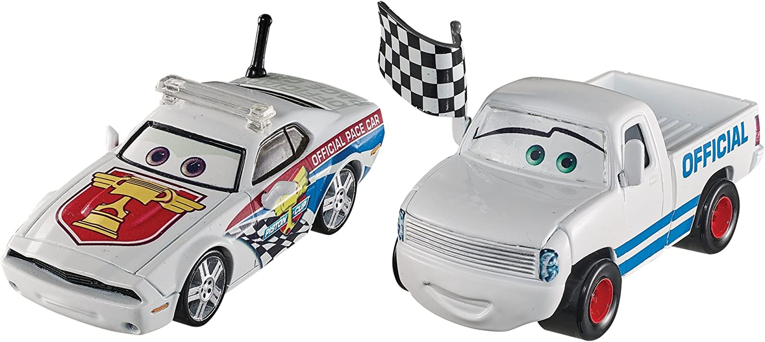 Amazon Com Disney Pixar Cars Character Car Race Starter Pace Car Vehicle 2 Pack Toys Games
