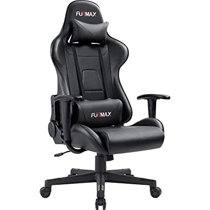 Amazon Com Furmax Gaming Office Chair Ergonomic High Back Racing Style Adjustable Height Executive Computer Chairpu Leather Swivel Desk Chair Black