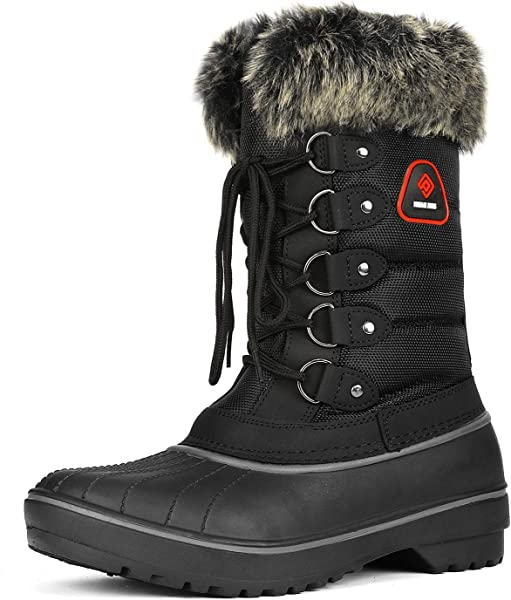 243d9efdf37 Pairs Women's Faux Fur Lined Mid Calf Winter Snow Boots
