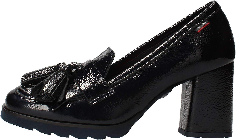 CALLAGHAN 25701 Zapatos de Mujer de Escote con Flecos de Cuero Azul de tacón Alto