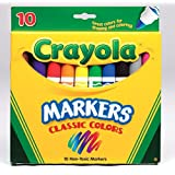 Crayola CR-58-7722-24 Non-Washable Classic Colors Markers, 10 Pcs Per Pack (2 Pack)
