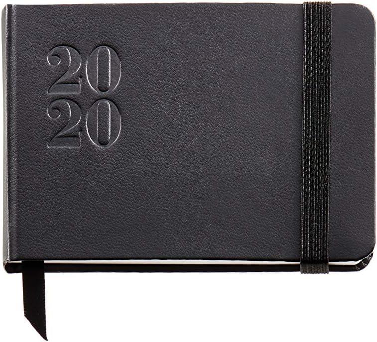 Miquelrius 32007 - Agenda 2020, Semana Vista Horizontal (105 x 74 mm), de bolsillo, Ágora Negro, Castellano