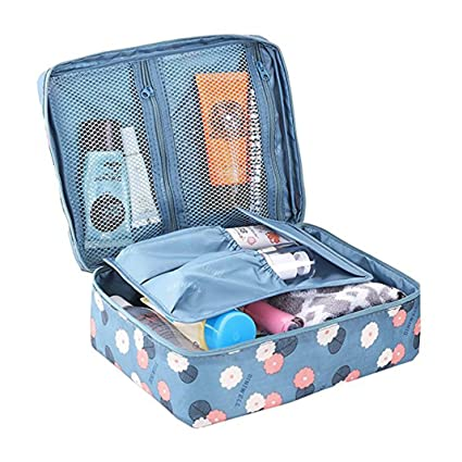 a29eafe15632 Amazon.com: HuaForCity Travel Cosmetic Bag Portable Large Capacity ...