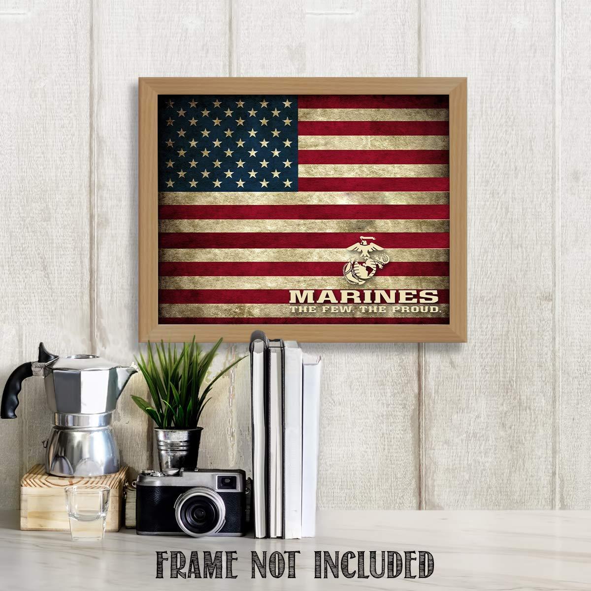 Amazon Com Marines The Few The Proud 10 X 8 Wall Art Print