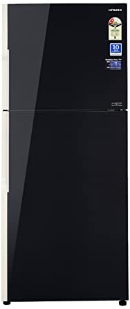 Hitachi 451 L 2 Star Frost Free Double Door Refrigerator(R-VG470PND3- (GBK), Black, Inverter Compressor)
