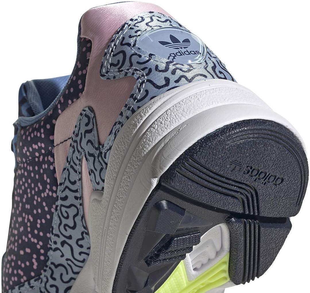 adidas Originals Damen Falcon Turnschuh, Core Black/Core Black/Light Pink Collegiate Navy Glow Blue True Pink