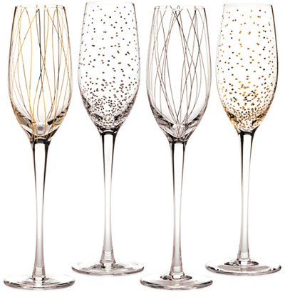 Mikasa Cheers Party Flutes, Set of 4 - All Glassware & Stemware - Dining & Entertaining - Macy's