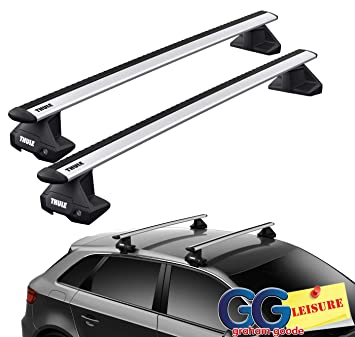 Thule Evo WingBars Roof Rack Bars Lockable | Peugeot 3008 5dr SUV