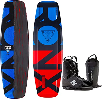 Hyperlite New 2019 Wakeboard Destroyer with Destroyer Wakeboard Bindings Fits Shoe Sizes 7-14!