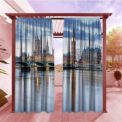 AndyTours - Cortinas de jardín para Exteriores, diseño de Londres: Amazon.es: Jardín
