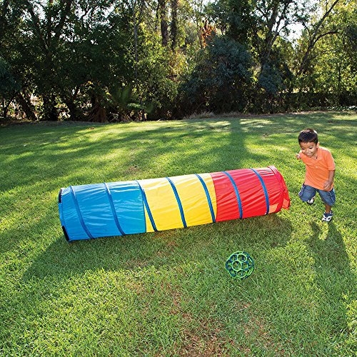 Pacific Play Tents Kids Find Me Multi Color 6 Foot Crawl Tunnel - Red, Yellow & Blue