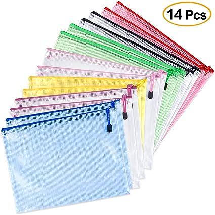 chiusura con cerniera rosso cartella portadocumenti tasca in pvc con zip ufficio A5 portadocumenti per scuola 12 pz portafoglio