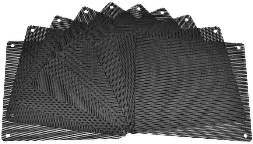 eBoot Filtro de Ventilador de PVC Antipolvo para Caja de Ordenador, 140mm y Negro, Paquete de 10