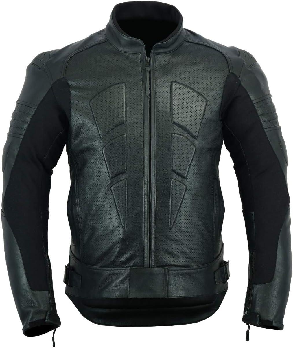 chaqueta de cuero de moto deportiva barata