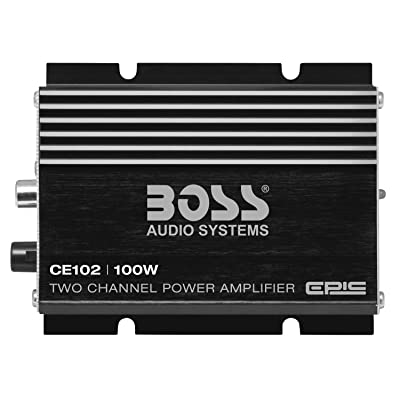 BOSS Audio Systems CE102 2 Channel Car Amplifier - 100 Watts, Full Range, Class A/B, IC (Integrated Circuit): Car Electronics