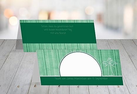 Carta Da Parati A Righe Verdi : Battesimo segnaposto carta da parati a righe verde scuro