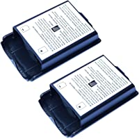 2X Black Battery Cover for Microsoft Xbox 360 Wireless Controller