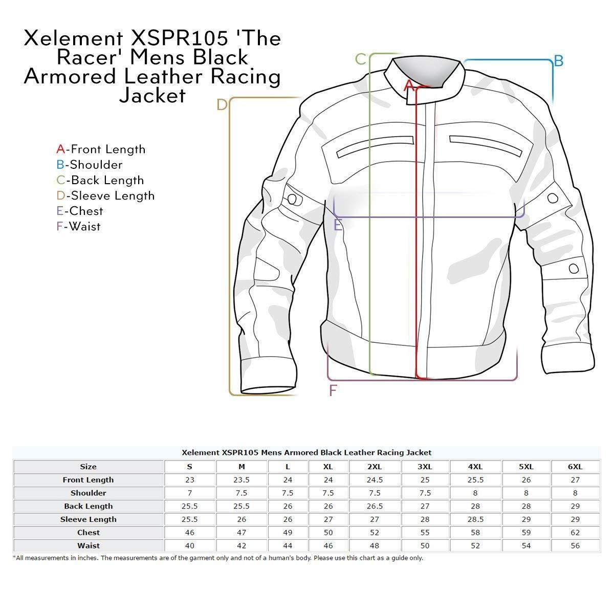 Amazon.com: Xelement XSPR105 The Racer - Chaqueta de ...