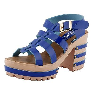 SHOFIEE Purple Block Heels discount cheap online 4vT4XA