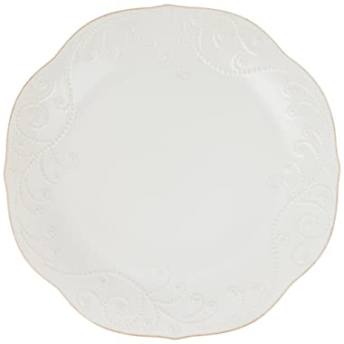 Lenox French Perle Dinner Plate, White
