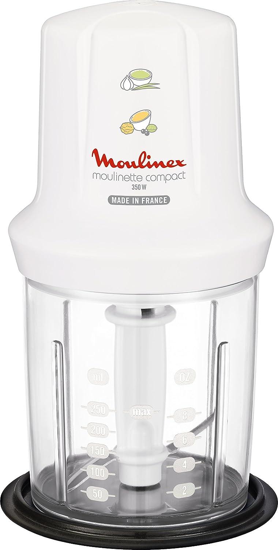 Moulinex DJ3051 Picadora eléctrica de alimentos, color blanco (0,25 L, Color blanco, 350 W): Amazon.es: Hogar