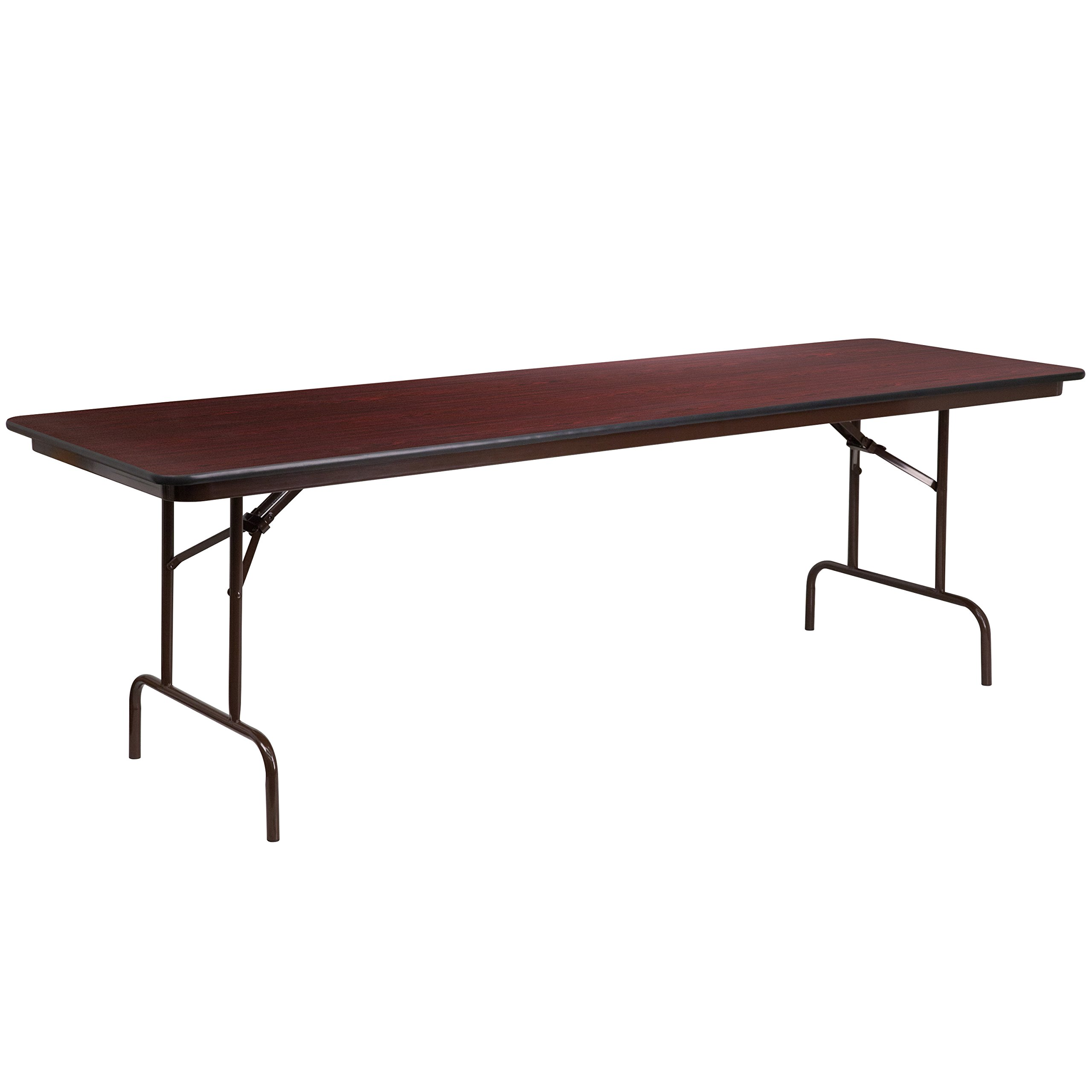 Flash Furniture 30'' x 96'' Rectangular Mahogany Melamine Laminate Folding Banquet Table