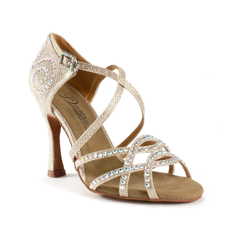 7b2a54528a Dancine Professional Ballroom Latin Salsa Social Wedding Dance  Shoes,Crystal Design,Two Styles