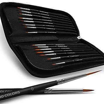 Amazon.com: Juego de pinceles profesionales de pintura de ...