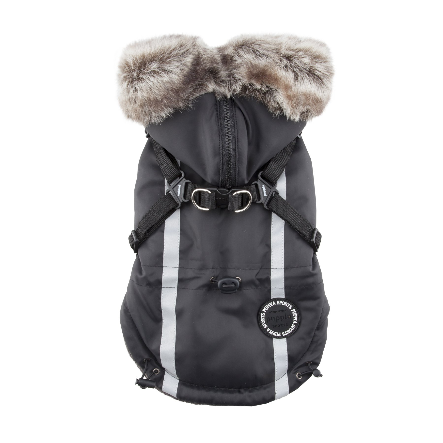 Puppia Clark Winter Fleece Vest, Small, Black