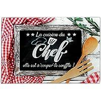 Planche à Découper en Verre - La Cuisine du Chef Elle est à Couper le Souffle