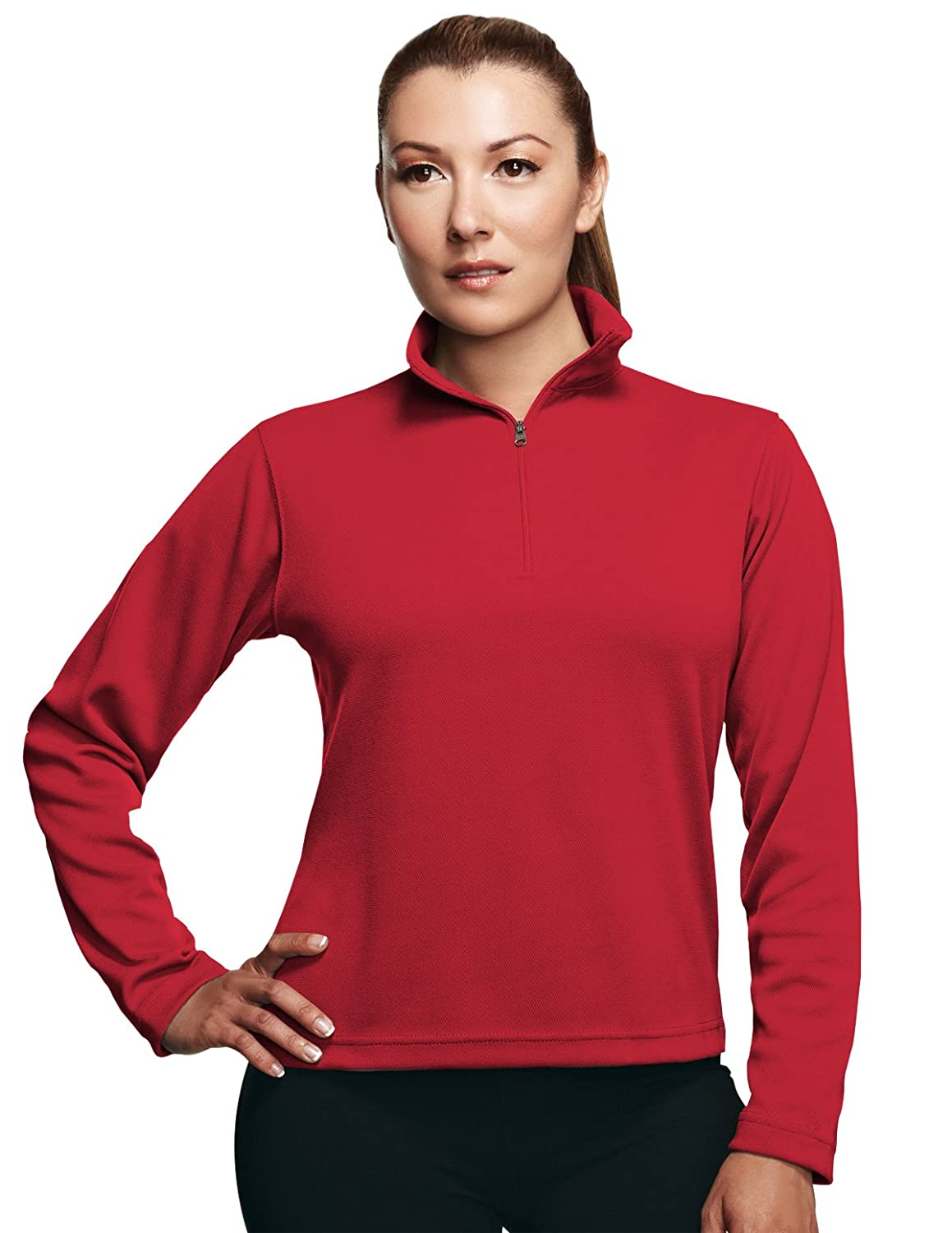 Tri Mountain Women's Performance Quarter Zip Pullover Shirt - 652 Mission TRM652