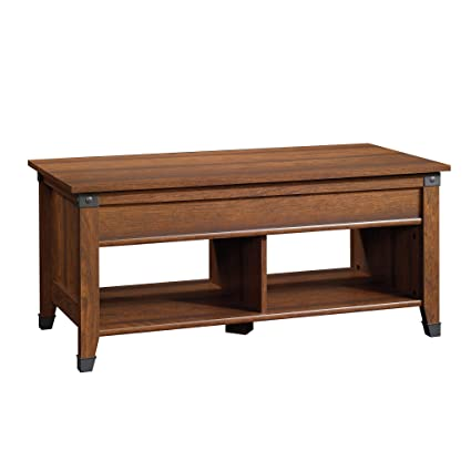 amazon com sauder 414444 carson forge lift top coffee table l