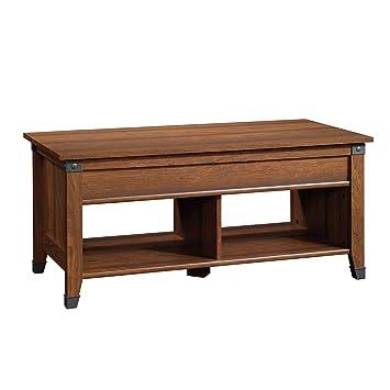 Amazon Com Sauder 414444 Carson Forge Lift Top Coffee Table L