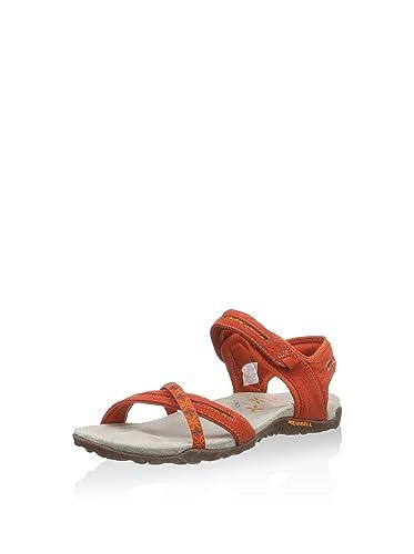 2909ae628439 Merrell Women s Fashion Sandals Red Red Orange 9 UK  Amazon.co.uk ...
